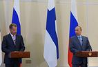 Президент Финляндии Саули Ниинисте и президент России Владимир Путин
