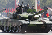 China's military tanks at Tiananmen Square (archive)