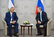 Uzbekistan's President Islam Karimov (left) and Russia's President Vladimir Putin