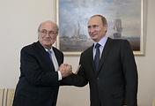 Президент России В.Путин встретился с главой Международной федерации футбола Й.Блаттером