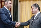Petro Poroshenko and Vitaly Klitschko