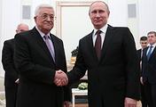 Mahmoud Abbas and Vladimir Putin