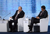 Russian President Vladimir Putin and Italian Prime Minister Matteo Renzi