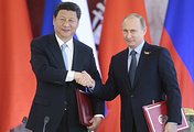 China's President Xi Jinping and Russian President Vladimir Putin, May 8, 2015
