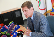 Russian Olympic Committee President Aleksander Zhukov