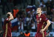 Russian national football team players Oleg Shatov and Artyom Dzyuba