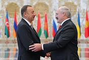 Azerbaijan's President Ilham Aliyev and Belarusian President Alexander Lukashenko