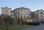The Norwegian Parliament building