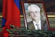 Portrait of Russia's Ambassador to the UN Vitaly Churkin