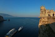 Swallow's Nest castle in Gaspra, Crimean Peninsula