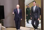 Russian President Vladimir Putin and Syrian President Bashar Assad