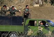 Syrian servicemen near Quneitra