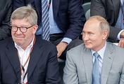 Managing Director of Formula 1 Ross Brawn and Russian President Vladimir Putin