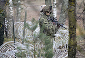 Soldiers seen during multinational military exercise in Adazi military base, Latvia