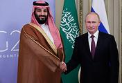 Crown Prince of Saudi Arabia Mohammed bin Salman and Russian President Vladimir Putin