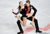Russia's ice dancers Sofia Shevchenko and Igor Eremenko