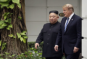 North Korean leader Kim Jong and US President Donald Trump