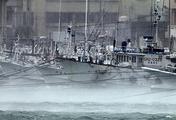 "Тайфун ""Неогури"" в японском порту Итоман"