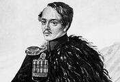 Автопортрет поэта М.Ю.Лермонтова (1838 год)