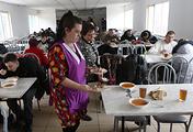 Пункт временного размещения беженцев из Украины в Ростовской области