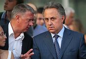 Глава ВФЛА Дмитрий Шляхтин и министр спорта РФ Виталий Мутко