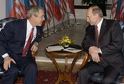 Президенты США и России Джордж Буш и Владимир Путин, 2005 год