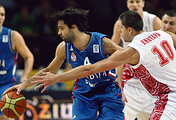 Эпизод матча чемпионата Европы по баскетболу между сборными Сербии и России, 2011 год