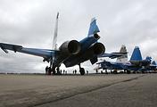 """Истребители Су-30СМ авиагруппы высшего пилотажа """"Русские витязи"""""""
