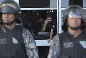 Полиция блокирует доступ к главному входу в здание минюста в городе Бразилиа