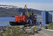 """Атомоход """"50 лет Победы"""" перед отправлением в первый в этом году туристический круиз на Северный полюс"""