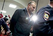Олег Коршунов перед началом рассмотрения ходатайства об его аресте в Басманном суде