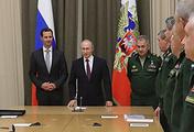 Президент Сирии Башар Асад, президент России Владимир Путин и министр обороны РФ Сергей Шойгу во время встречи в Сочи