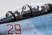 """Истребитель Су-30 на аэродроме авиабазы """"Хмеймим"""""""