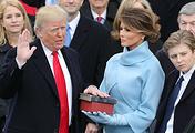Дональд Трамп во время инаугурации, 2017 год