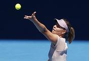Мария Шарапова в матче первого круга Australian Open - 2018