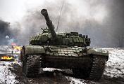 Танк Т-72Б3 обшит кирпичиками динамической брони
