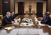 Президент России Владимир Путин и режиссер Оливер Стоун