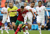 Игроки сборных Марокко и Ирана