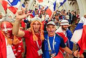 Болельщики сборных Дании и Франции