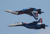 """Многоцелевые истребители Су-30СМ пилотажной группы """"Русские Витязи"""""""