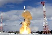 """Пуск тяжелой межконтинентальной баллистической ракеты """"Сармат"""""""