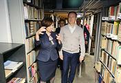 Министр культуры РФ Владимир Мединский в Новосибирской государственной областной научной библиотеке