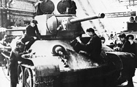 On December 19, 1939, Red Army's legendary T-34 tank was accepted for production. Photo: Workers assemble a T-34 tank at Ural Heavy Machine Building Plant, 1942