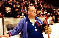 Soviet national ice hockey team head coach Anatoly Tarasov, 1979