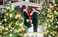 Christmas trees adorn Moscow's Manezhnaya Square