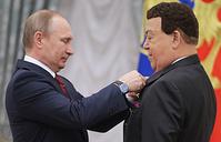 Президент РФ Владимир Путин и певец Иосиф Кобзон