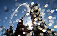 """Освящение ракеты-носителя """"Союз-ФГ"""" с кораблем """"Союз МС-04"""" на космодроме Байконур"""