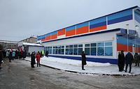 Здание физкультурно-оздоровительного комплекса построено по типовому проекту. Общая стоимость строительства объекта составила свыше 100 млн рублей