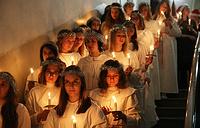 День святой Люсии в Шведской церкви Святой Екатерины на Малой Конюшенной