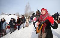 Во время масленичных гуляний на полигоне Казанского танкового училища
